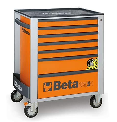 Beta 24002171 Werkzeugwagen C24S O/7, 740 mm x 445 mm x 944 mm, Orange