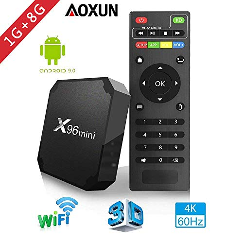 Aoxun 2019 Android 9.0 TV Box - Smart TV Box Quad Core X96 Mini Android Amlogic S905W 3D/4K/HD Media Player 1GB 8GB/WiFi 2.4G X96 Mini TV Box