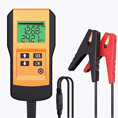 LEICESTERCN Batterietester Professional Starterbatterie Tester 12V 100-9999 CCA Automotive Batterie Belastungstest Analysegerät Testgerät Digital Analyzer Werkzeug für Auto/Boot/Motorrad