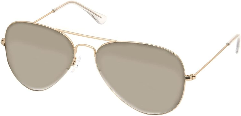 AQS Unisex James Mirrored Aviator Sunglasses