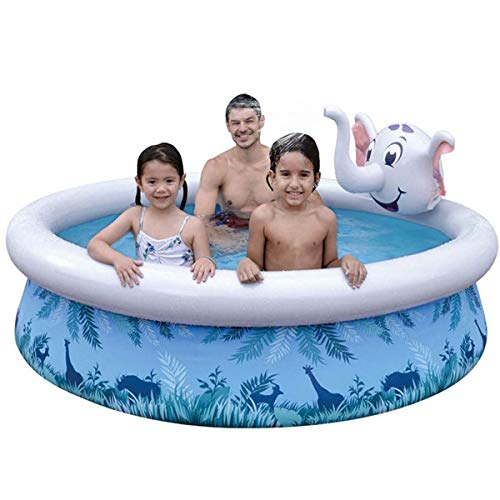 paddling pools ZHCHL Kids Pool Inflatable, Paddling Pool Baby, Kids Swimming Pools for Gardens, Cute Elephant Squirting Water, Safe Summer Water Party Supply for Kids Adult