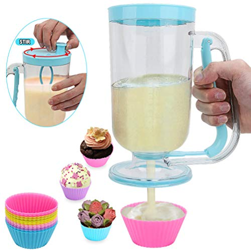 2-in-1 Pancake/Batter/Cupcake Dispenser-Perfect Baking Tool for...