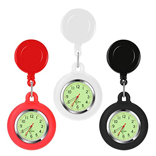 3 Pcs Stretch Adjustable Length Pocket Watch Nurse Watch