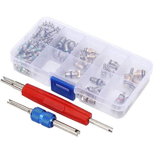 Kern Ventile für Klimaanlagen, AC-Ventil-Kern Kit Werkzeug zum Entfernen von Kfz-Ventilschaftkernen für die Reparatur von Autoklimaanlagen