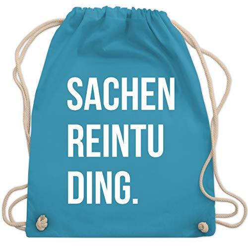 Shirtracer Festival Turnbeutel - Sachenreintuding - Unisize - Hellblau - turnbeutel lustige sprüche - WM110 - Turnbeutel und Stoffbeutel aus Baumwolle