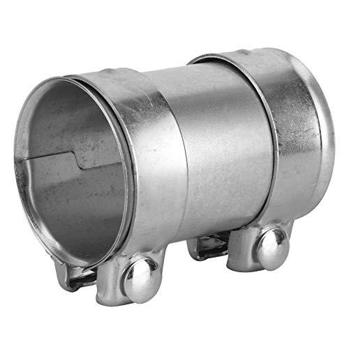 Abrazadera de tubo de escape Aramox, conector universal de tubo de escape de acero inoxidable de 3 pulgadas y 76 mm, piezas de reparación de tubo de manga de unión de abrazadera doble, plateado
