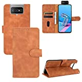 TOPOFU Asus Zenfone 7 ZS670KS Case, Premium PU Leather