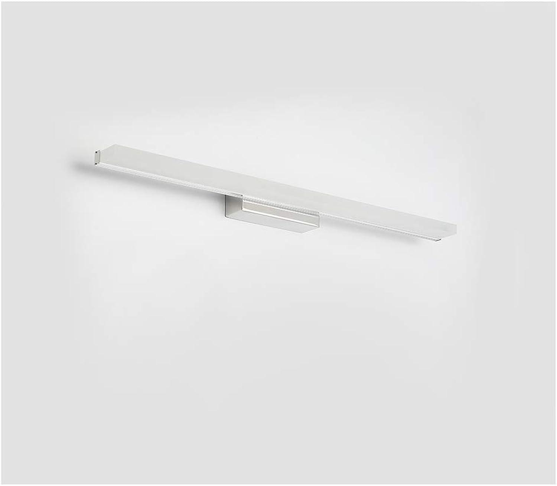 Rindasr LED-wasserdichter Badezimmerlicht Spiegel-Scheinwerfer, Make-upspiegeldekoration-Wandleuchte, Qualittsacryl (Farbe   Weiß Light, Größe   21.5in)