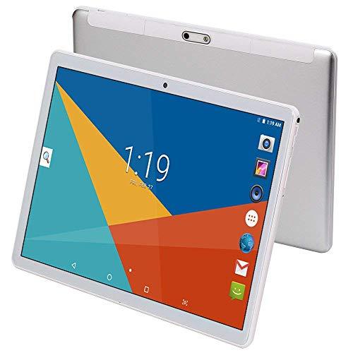 Octa Core CPU - Tablet Android da 10', 4 GB RAM, memoria interna da 64 GB, WiFi, fotocamera, GPS, Dual SIM, senza blocco di rete, telefono tablet 3G nero argento