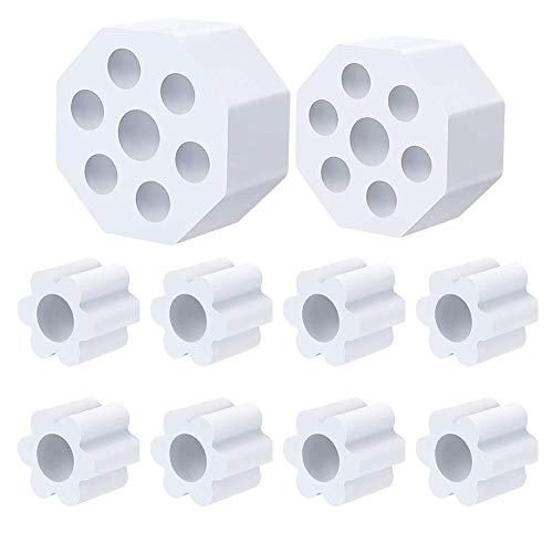 Moligin - Vaso de espuma de alta densidad EVA para tubo de PVC de 0.5 pulgadas, accesorios de máquina de 10 unidades, de Moligin