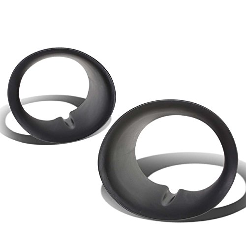 Pair OE Style Replacement Fog Light Lamp Bezel Cover Replacement for Dodge Ram 02-08 w/Steel Bumper