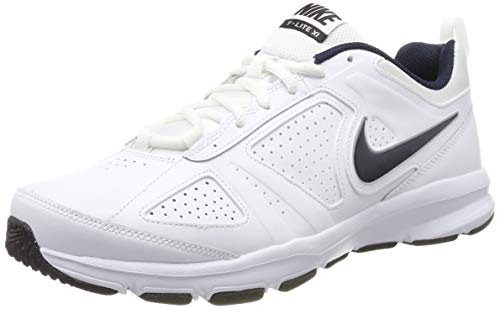 Nike T-Lite XI 616544-101, Scarpe da Ginnastica Basse Uomo, Bianco (White/Obsidian/Black/Metallic Silver 101), 44 EU