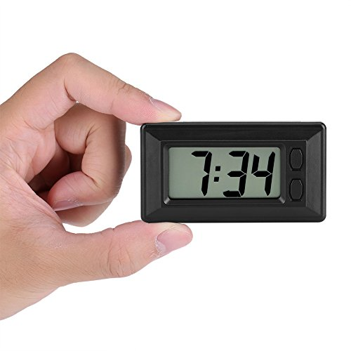 TMISHION LCD Digital Table Car Dashboard Desk Electronic Clock with Date Time Calendar Display for Home Office Car - 3.0 1.7 0.7 Inch
