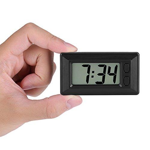 TMISHION Digitale LCD-klok, dashboard, digitaal, datum, tijd, groot LCD-display, 77 x 42,4 x 17,7 mm