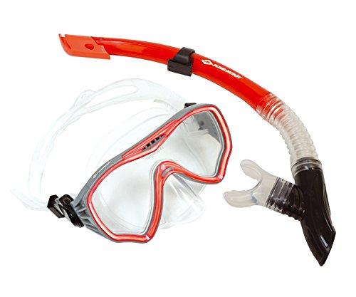 Schildkröt Snorkelset Fiji 2-delig, bril, snorkel, ABC-set, duikset voor volwassenen en jongeren, hoogwaardig siliconen, cool design, perfecte pasvorm, in blisterverpakking