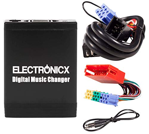 Electronicx Elec-M06-VW8D+20Pin Adaptador de Musica Digtal para Coche USB, SD,AUX Cambiador de CD, para Audi 8 + 20 Pin