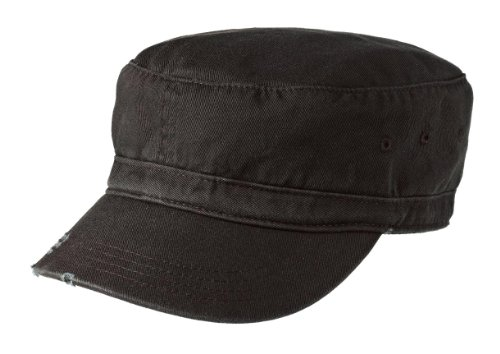 Joe's USA Military Style Distressed Enzyme Washed Cotton Twill Cap-Black