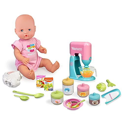 Nenuco- ciò Che Mangiamo Oggi Baby Doll con Gli Accessori per Rendere la Pappa, Comprende Due...