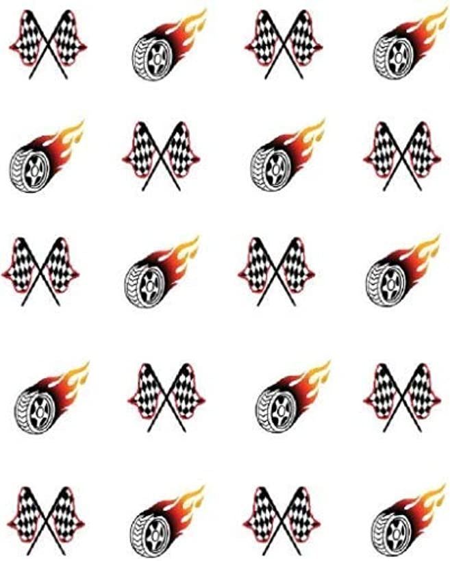 Checkered Flags/Racing Waterslide Nail Art Decals