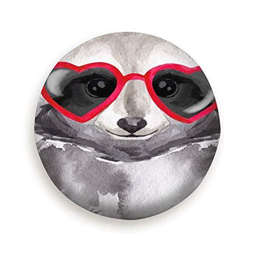 Fendy-Shop Repuesto Cubierta de neumático 14'-17' Gracioso Mapache Acuarela con Gafas De Sol Animales Vida Silvestre Adorable Cubierta Ligera para Autos de Repuesto