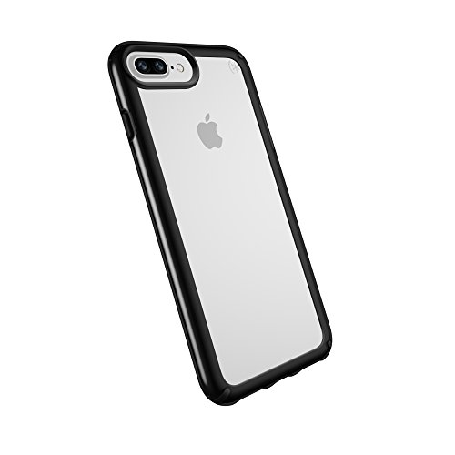 Speck Products Presidio Show Case for iPhone 8 Plus (Also fits 7 Plus and 6S/6 Plus), Clear/Black
