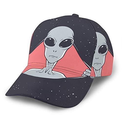Unisex Fashion Curved Adjustable Baseball Cap Aliens Break A Hole In Space The Way Curved Brim Trucker Hat 3D Sunhut für Sport Outdoor Aktivitäten Schwarz