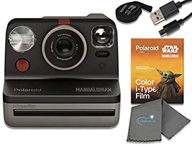 Polaroid Now I-Type Instant Film Camera - Star Wars The Mandalorian Edition Bundle with The Mandalorian Color i-Type Film Pack (8 Instant Photos) and a Lumintrail Cleaning Cloth