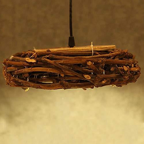 Kroonluchter Side kroonluchter rotan handgemaakt bamboe kunst lampen restaurant bar woonkamer bartafel diameter 30 cm hoog 10 cm hangend licht