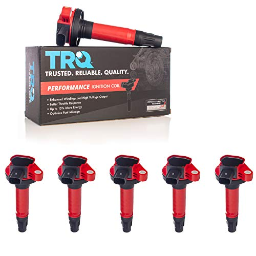 TRQ Performance 6 Piece Premium High Performance Ignition Coil Kit Set for Ford/Lincoln / V6 3.5L Turbo Models Only