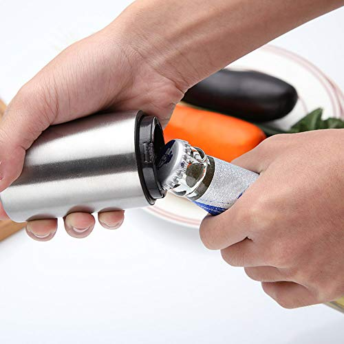 Ramddy Push Down Bottle Opener with Magnetic Cap Catcher, 3 Packs