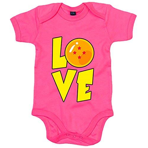 Body bebé Love parodia para fan de las bolas de dragón - Rosa, 6-12 meses