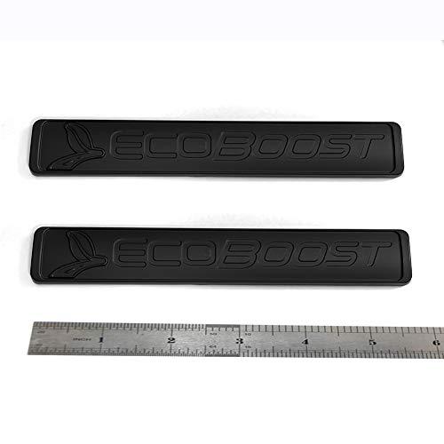 2pcs OEM Ecoboost Badge Emblem 3D Nameplate Replacement for Suv F150 Ecoboost 2011-2018 Black Origianl Size Genuine Parts