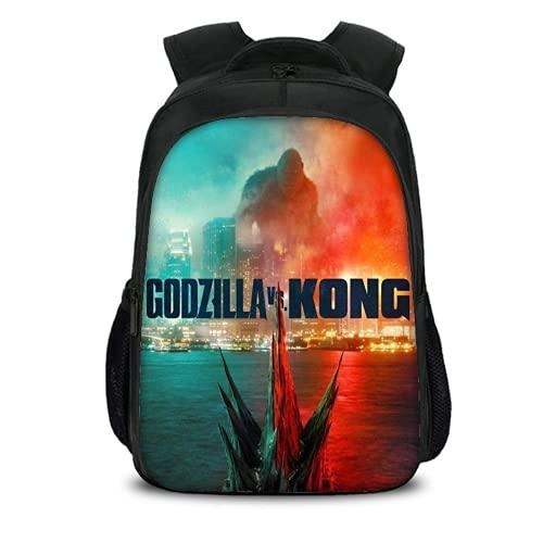 Mochila escolar Godzilla Vs King Kong, diseño de dinosaurio monstruo, mochila para ordenador, mochila escolar para niños y niñas, Godzillas9, 31 * 10 * 45 cm (17 Zoll),