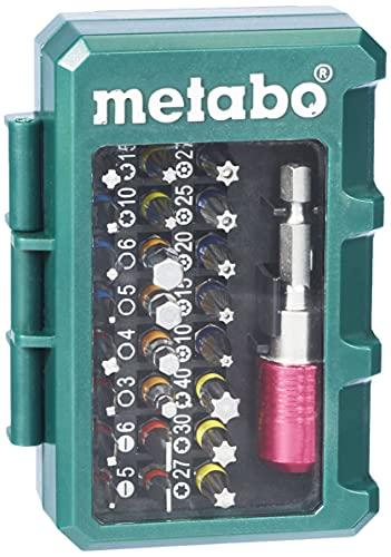 Metabo Bit-Box SP 32-teilig (inkl. Stecknussadapter + Schnellwechselbithalter, Chrom-Vanadium-Stahl, Bit-Set) 626700000