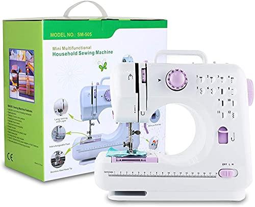 Machine à Coudre,USMEI Machine à Coudre électrique Domestique, Mini Machine à Coudre électrique, Machine à Coudre électrique Portable, Convient Aux Débutants
