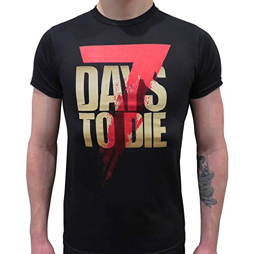 The Fun Pimps Entertainment, LLC 7 Days to Die T-Shirt (Medium) Black
