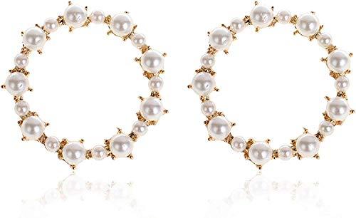 Bowen Jimmy Geometric Stud Metal Pearl Earring Jewelry Accessories,Prototype