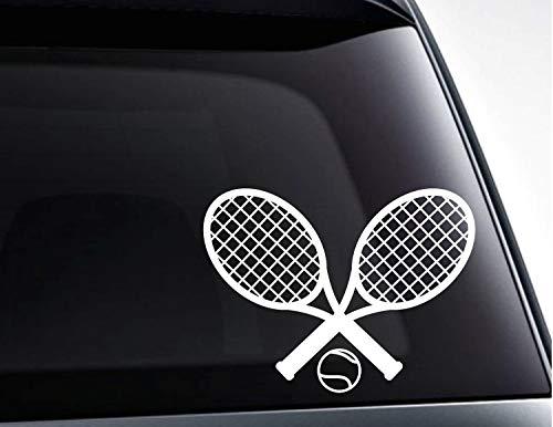 Vinyl-Aufkleber, Tennisschläger und Tennisball, Auto-Aufkleber, Autoaufkleber, Laptop-Aufkleber, 11 Zoll