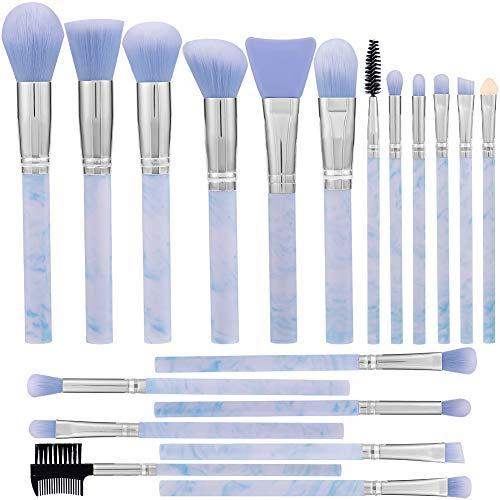 DUAIU Make-up-Pinsel-Set, 19 Stück, Marmor-Muster, professionelles Make-up-Pinsel-Set, synthetische Grundierung, Concealer, Mischung, Lidschatten, Augenbrauen, Gesichtspuder, Maskenpinsel-Set