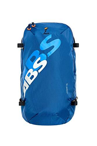 ABS Unisex– Erwachsene Lawinenrucksack Zip-On 15, Packsack für P.Ride Compact und S.Light Base Unit, 15L Volumen, Fach für Sicherheitsausrüstung, Ski-und Snowboardhalterung, Helmnetz, Glacier Blue