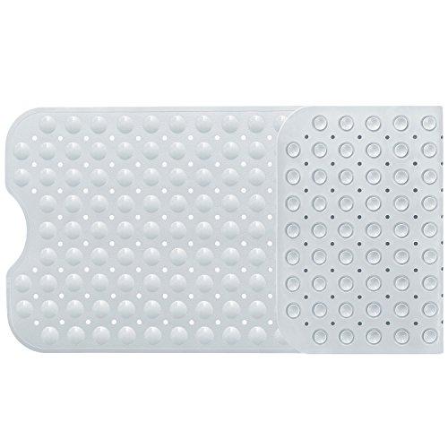 バスマット お風呂マット 滑り止めマット 転倒防止 介護用 浴槽用 吸盤付き 防カビ 100×40cm ホワイト