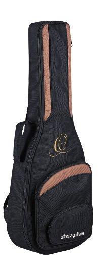 Ortega Guitars ONB44 hochwertige Konzertgitarren Tasche 4/4 Größe mit Rucksackgarnitur schwarz