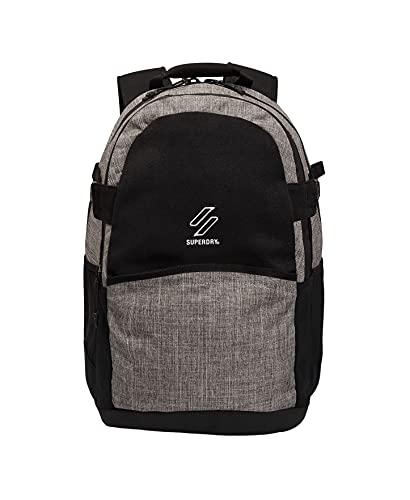 Superdry Franchise TARP Backpack, Mochila para Hombre, Negro/gris Marl, Einheitsgröße