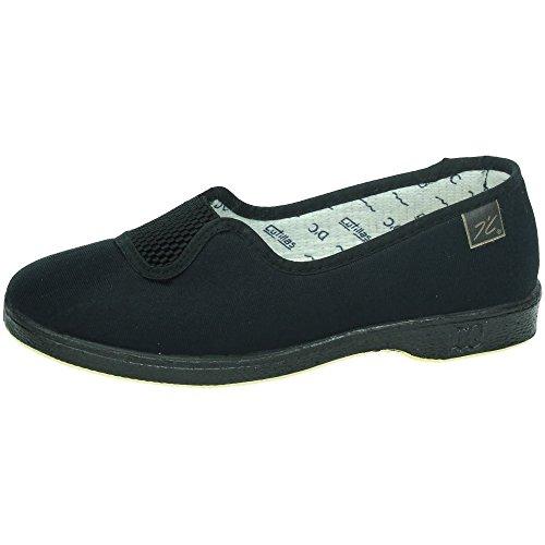 MADE IN SPAIN 413 Goma Medio Verano SEÑORA Zapatillas Negro 39 ⭐