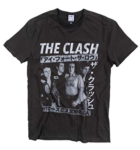 Amplified Charcoal The Clash Tour Poster T Shirt from
