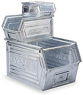 Ssi Schaefer 14/7 Stacking Steel Bin Box 20x12x8 Galv