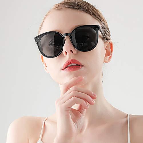 GUANGE Gafas de sol polarizadas para mujer, protección UV400, gafas de sol para mujer, de gran tamaño, de moda, para conducir, ciclismo, golf, pesca, correr, vela, regalos para damas, color negro
