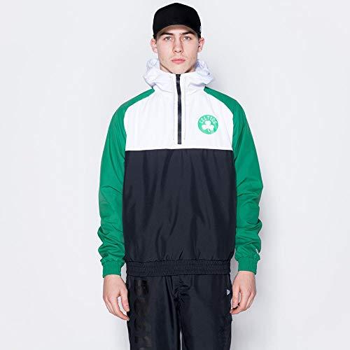 New Era Chaqueta cortavientos para hombre Boston Celtics, Hombre, 12033460, negro, large