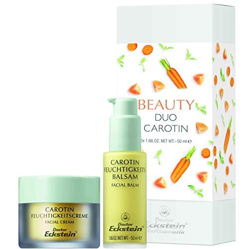 Doctor Eckstein Beauty Duo Carotin: Feuchtigkeitscreme 50 ml und  Feuchtigkeitsbalsam 50 ml in schöner Geschenkverpackung