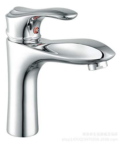 Domudobekken-waterkraan, warm en koud, van zuiver koper, wastafel, badkamer, badkamer, kast, eengatmontage, badkamer